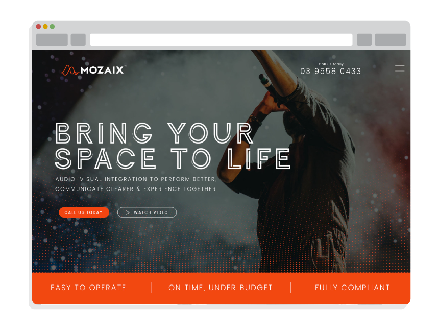 Best Small Business Website for Mozaix