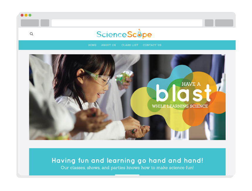 custom logo design and website design for Science Scope