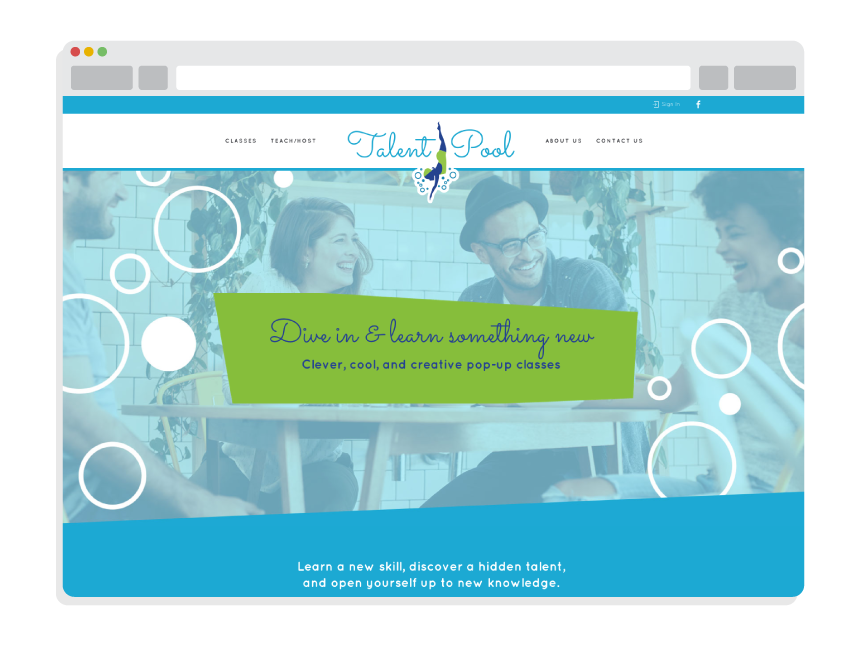 startup website design for Talent Pool SRQ
